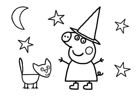 peppa pig halloween coloring pages peppa pig halloween colouring page for preschoolers