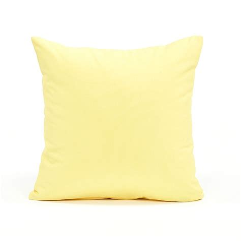 20 Pillow Cover by 20 Quot X 20 Quot Solid Pastel Yellow Accent Throw Pillow Cover
