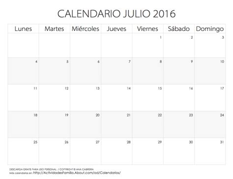 calendario 2016 para imprimir on pinterest calendar calendarios 2016 para imprimir july calendar calendar