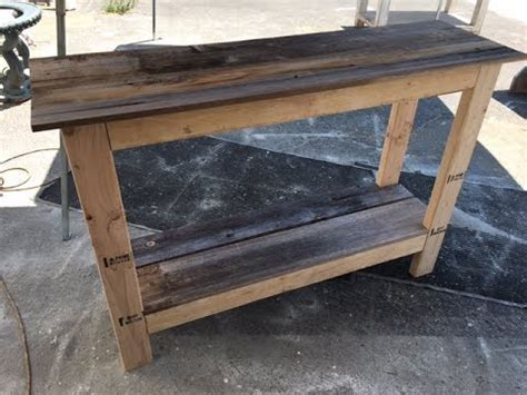 diy  console table project fast  easy great