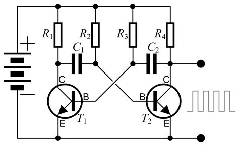 pulse capacitor wiki about multivibrators and thier types with its working