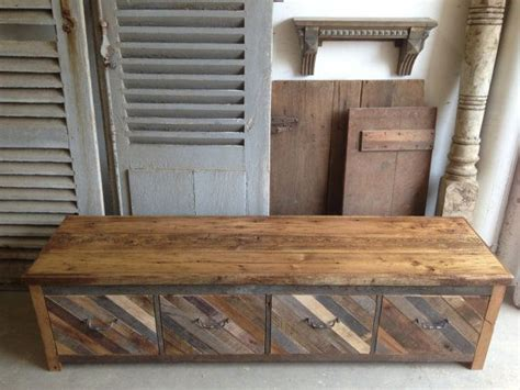 mud bench with storage reclaimed pallet and barn wood 4 drawer mud room bench entryway storage shoe bin