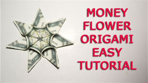 Money Origami Tutorial - origami money flower tutorial image collections craft