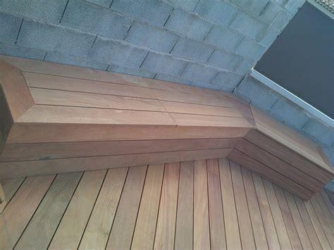 banc en bois banc de rangement pour tour de piscine en bois exotique
