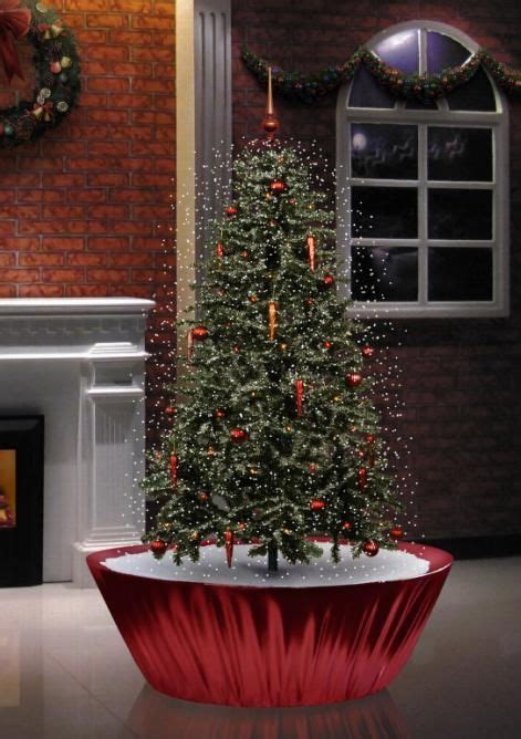 mythbusters christmas tree preservative snowing tree base 4 5 inches snowing tree