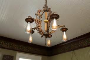 Vintage Dining Room Lighting Antique Light Fixture In Dining Room Hooked On Houses