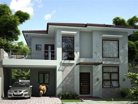 house modern design simple 2 storey simple modern house design 4 home ideas