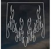 Flames Graphics Sticker Ghost Tinted Window Dark