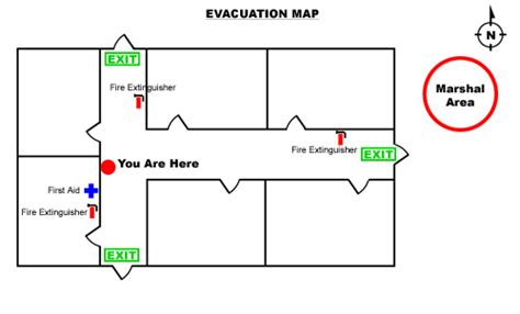 emergency exit floor plan template survival kits