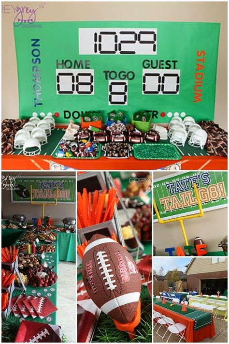 themes football com this boy s football birthday party is a touchdown