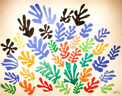 Henri Matisse Decoupage - one big flower hawk flickr