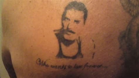 tattoo fail freddie mercury my attempt at freddie mercury silouhette tattoo