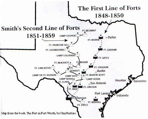 texas forts map fort tours fort belknap road weatherford to salesville