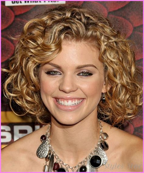 round face curly bob long bob haircut pictures front and back stylesstar com