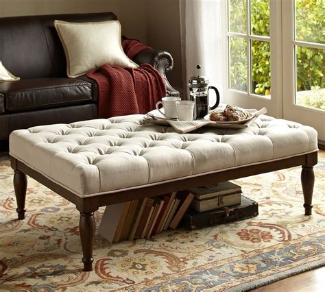 Pottery Barn Tufted Ottoman Gojee Tufted Ottoman By Pottery Barn Furniture Home Products And