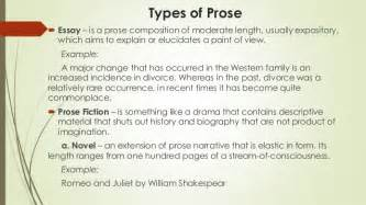 Prose Essay Definition by Literature And Its Types