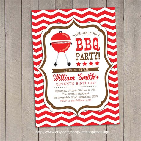 bbq invitation bbq birthday invitation backyard by