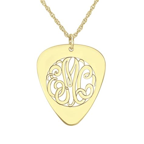 Classic Jewelry Top Picks by Classic Guitar Monogram Pendant 30x25mm Personalized