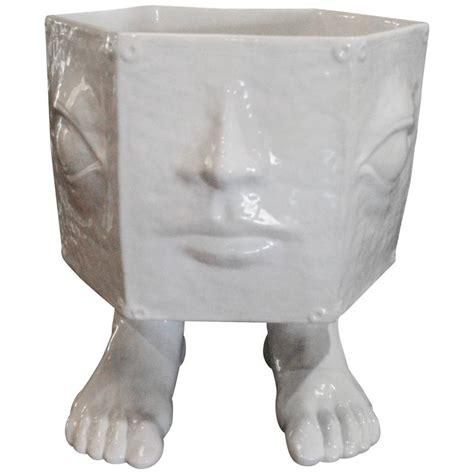 head planter pots for sale italian taste setter sigma face pottery head feet ceramic