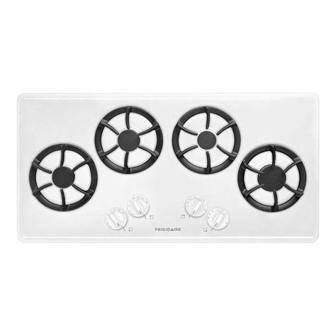 frigidaire   recessed gas cooktop  white