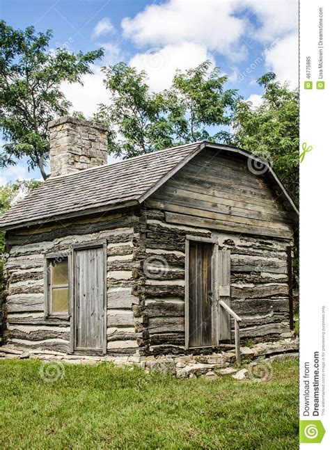 Small Cabin Fireplace by Small Preserved Log Cabin Stock Photo Image 46775885