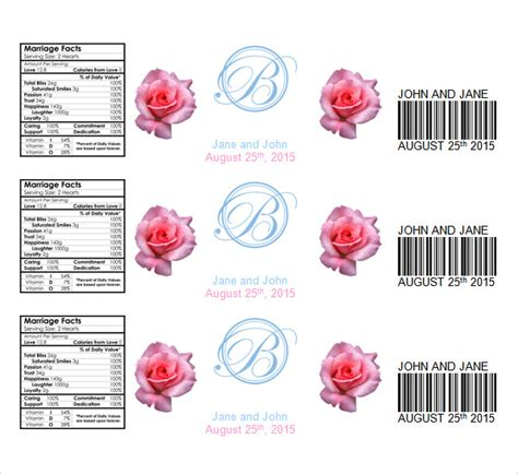 water bottle label template water bottle label template template business