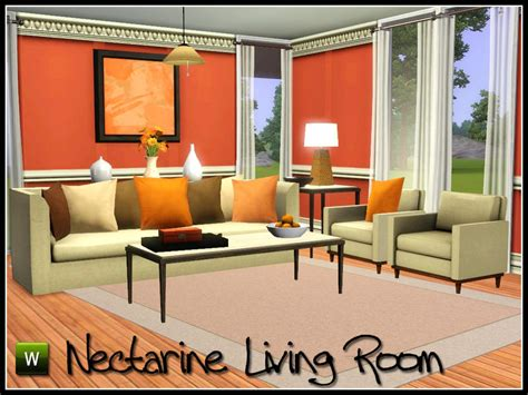 living room ideas sims 3 sim man123 s nectarine living room