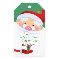 secret santa tags gifts on zazzle
