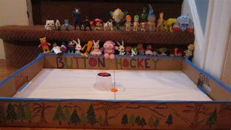 home made games button hockey game homemade fun hockeygods