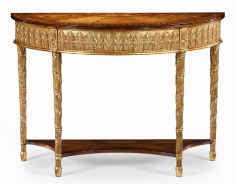 Small Demilune Table by Small Gilded Demilune Console Table Hallway Tables Tables