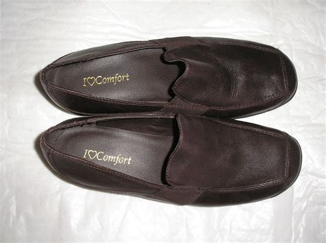l love comfort shoes womens i love comfort size 7 1 2 medium dark brown