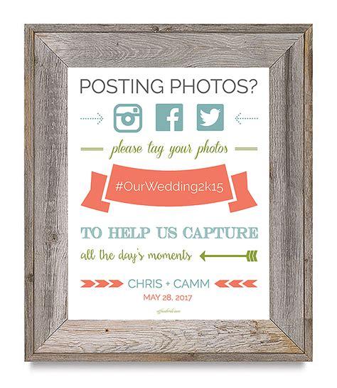 Wedding Hashtag Sign by Free Printable Wedding Hashtag Sign
