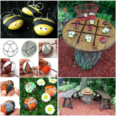 Ladybug Garden Decoration Juego by How To Make A Bug Tic Tac Toe Garden Table Pictures
