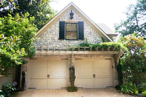 Landscape Simple Tuscan Style Backyard Landscaping Arbor Garage Door