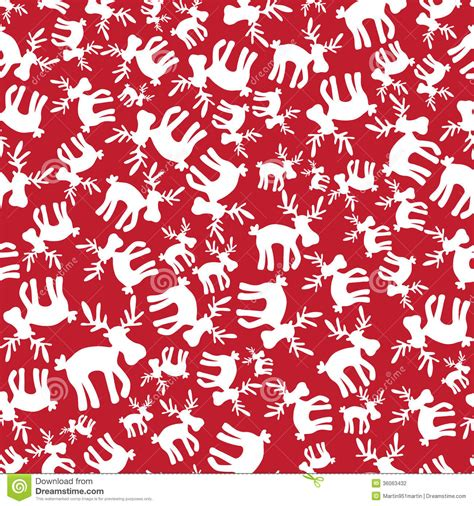 christmas reindeer red pattern eps10 stock vector image