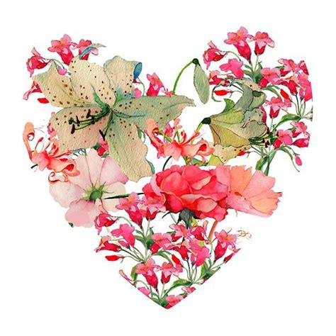 love heart made of flowers http 25 media tumblr com