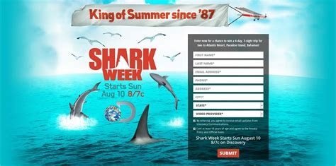 Discovery Channel Sweepstakes - discovery channel shark week sweepstakes shark week starts sunday august 10 on