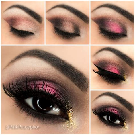 Eyeshadow Tutorial With Primer | pink smokey eye step by step tutorial pink perception