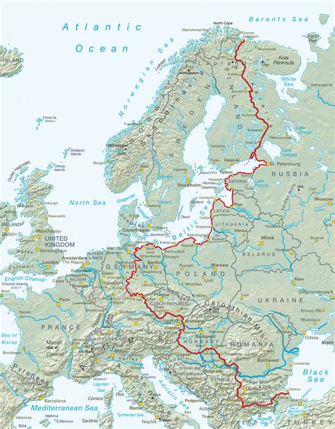 map of the iron curtain iron curtain trail the official iron curtain trail brochure
