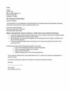 visa extension letter template