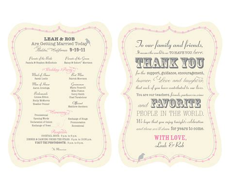 wedding programs on pinterest fan programs wedding