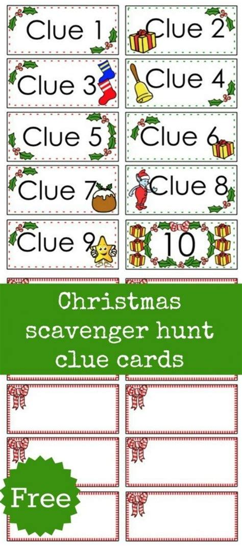 treasure hunt cards template scavenger hunt free printable clue cards for