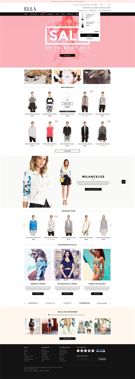 shopify themes ella ella responsive fashion shopify template sections ready