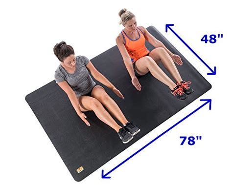 Mats For Working Out by Pogamat Large Exercise Mat 78 Quot X 48 Quot X 1 4 Quot Thick 6 5 X4