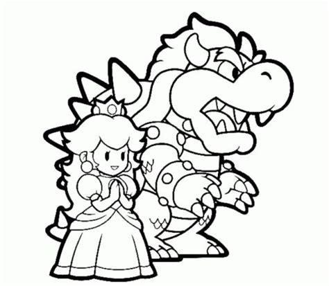 mario coloring pages princess bowser and princess mario coloring pages