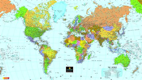 on world map world political map size