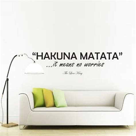 hakuna matata wall stickers hakuna matata wall decal sticker wall decal sticker