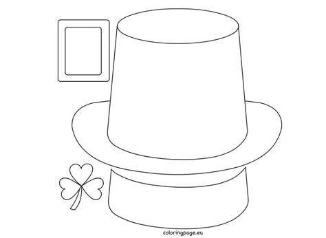 leprechaun template free leprechaun hat paper craft coloring page