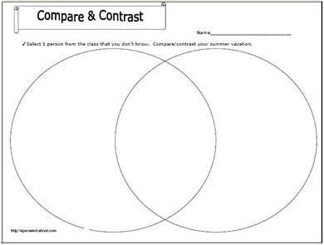biography compare and contrast worksheet download summer vacations compare and contrast and summer on pinterest