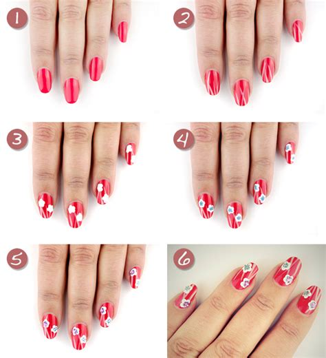 tutorial fiori nail 16 floral nail tutorials to try out this